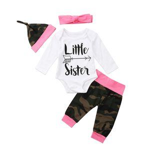 FOCUSNORM طفل رضيع طفل بنات الأولاد ملابس بلايز كم طويل رومبير التمويه سروال تتسابق هات مجموعة