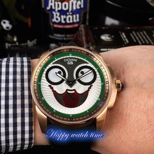 Verbesserte Version Konstantin Chaykin Moon Phase Joker Smiley Clown Dial Automatik-Uhrwerk Herrenuhr Rose Gold-Stahl-Gehäuse Designer-Uhren