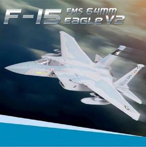 FMS 64mm F15 F15 V2 Eagle-Impeller EDF Jet Sky Camo 4S FMS RC Airpllane Moderne Kämpfer Modell Hobby Flugzeug Flugzeug Avion PNP