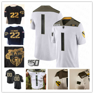 Coutume 2020 Army Black Knights College Football Jersey Connor Slomka Kelvin Hopkins Jr. Kell Walker James Gibson Christian Anderson McCoy