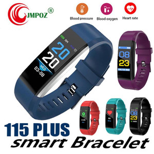 ID115 Plus Smart Bracelet Fitness Tracker Smart Watch Heart Rate Watchband Smart Wristband For Apple Android Cellphones with Box