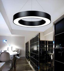 Round Circle Suspension Hanglamp Black White Lampada a sospensione a soffitto per ufficio Dining Living room Nuovo arrivo LLFA