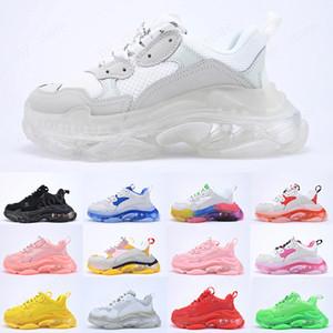 2020 Tasarımcı Üst Kalite Triple S Temizle Kabarcık Orta taban Günlük Ayakkabılar Çok renkli kombinasyon ayakkabı Womens Moda lüks spor ayakkabı 36-45