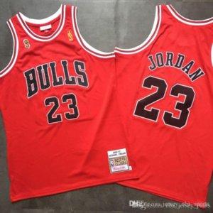 Basquetebol Masculino Chicago Bulls Michael Jordan nba Mitchell Ness 1996-97 ultimate victory red Swingman Jersey
