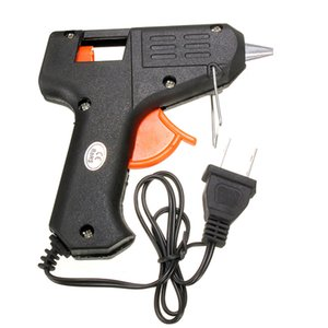 20W 110v-240v 7mm Palillos de pegamento Calefacción eléctrica Hot Melt Glue Gun Sticks Trigger Art Craft Repair Tool EE. UU. Plug herramienta eléctrica