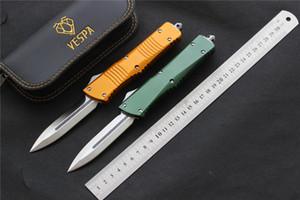 Alta qualità VESPA coltello lama: D2 (D / E satinato) Maniglia: Alluminio, la sopravvivenza di campeggio esterna coltelli strumenti EDC (sei colori)