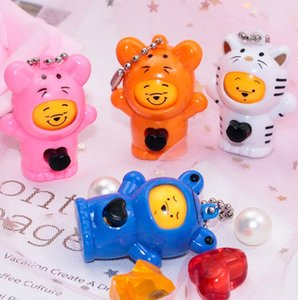 Novelty decompression toys, creative gifts, pendants, small gifts, face-changing baby bears, cartoon Keyrings