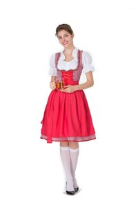 Oktoberfest Dresses Womens Halloween Waiter Beer Girl Casual Dress Fashion Stage Performance Clothing Plaid Women Designer
