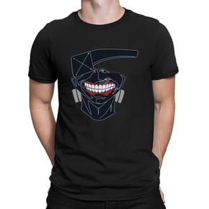 Tokyo Ghoul Kaneki Mask Tshirts Funny Casual Great Fitness Clothing Spring Autumn Tshirt For Men Leisure Character Cheap Sale
