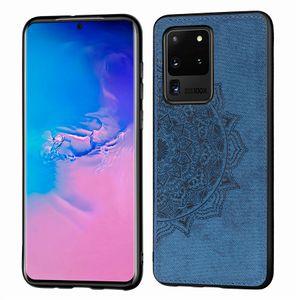 Für Galaxy S20 plus Argument Stoß- Sunflower Tuch-Telefon-Kasten für Samsung-Galaxie S20 ultra-rückseitige Abdeckung Weicher Rahmen Stoff Fundas S20