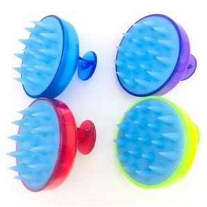 Practical Multi Color Massage Round Brush New Cleansing Scalp Silicone Shampoo Comb Shampoo Massage Bath Brush