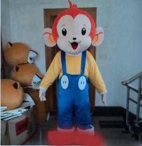 2019 Yüksek kaliteli Güzel Monkey Kostümler Holloween Maskot Karikatür Maskot Kostüm Özelleştirilmiş Ücretsiz Kargo Yetişkin Boyut