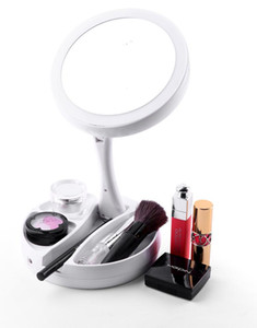 Charging Light Makeup Mirror LED Touch Dimming Mirror Multi-function Lamp Desktop Led