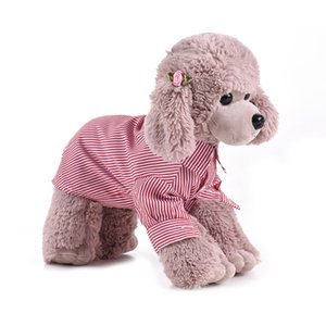 Pet Dog Clothes Premium Breathable Pet Dog Striped Shirt Clothes Underwear Super Cute Puppy Supplies for Soft Cotton Dog Shirt