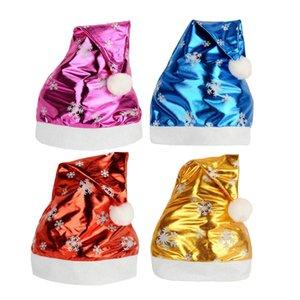 4styles Snowflake Pattern Chapéus fluorescente pano Caps Natal Hat xmas Festival Decor partido headwear cap fluorescente FFA2825