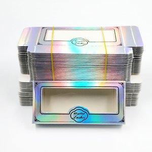 O envio gratuito de caixa de cílios vazio embalagens de papelão 25 milímetros de papel Multicolor embalagem pestanas falsas pacote da caixa falsos cílios caixa de embalagem
