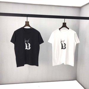 Новый 2020 O-образным вырезом Мужские футболки черный белый мода лето мужчины футболки лето хлопок тройники скейтборд хип-хоп уличная футболка top8