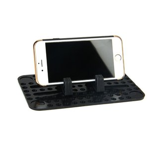 Manyetik Silikon Araç Pano Telefon Tutucu Standı Kaymaz Dağı Destek USB Şarj Tutucu Pad Şarj iPhone Ücretsiz Kargo Anti-skid