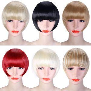 여성 가짜 앞머리 확장 프린지 헤어 발톱 갈색 머리 성인 패션 헤어 확장 모자