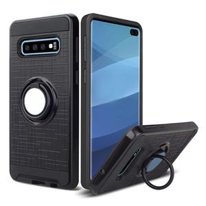 Hibrid Zırh Vaka Samsung Galaxy A10 A20 S10 5G 360 Derece Dönen Araç Telefonu Tutucu Manyetik Kapak Oppbag 100 adet en az