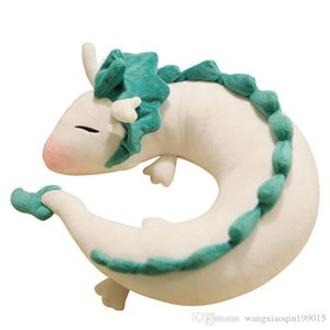 Anime Ghibli Miyazaki Hayao Plush Toy Spirited Away Haku 28 centímetros Presentes de Natal bonito Boneca Stuffed Plush Toy Pillow Neck U