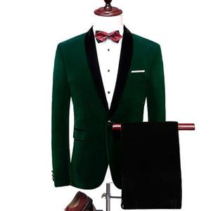 Новые Популярные Groomsmen шаль лацкане One Button (куртка + брюки + Tie) Жених Смокинги Groomsmen Шафер костюм мужские свадебные костюмы Жениха 709