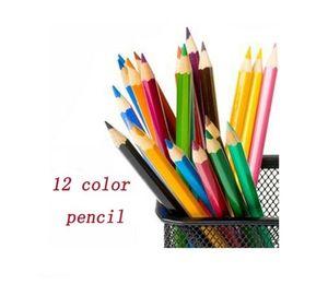 핫 프리미엄 12 컬러 연필 세트 나무 이상적 성인 아티스트 스케 쳐 어린이 색칠 스케치 낙서