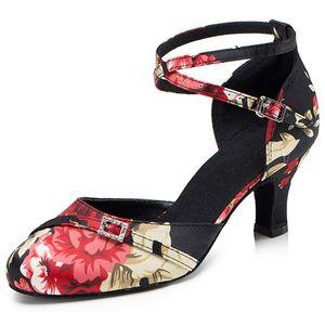 Hot Selling Women's Tango Ballroom Latin Dance Dancing Shoes Heeled Salsa Professional Dancing Shoes For Girls Ladies 6cm
