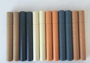 100шт Kraft Paper Благовония Благовония Tube Barrel Малый ящик для 5g Джосс палочке удобной переноски для хранения