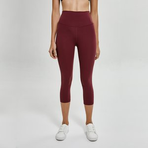 yoga taille haute Atheltics Legging capris LU-35 bonbons de couleur Sport Leggings élastique Fitness Gym Slim Courir Pantalons