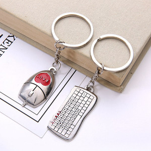 Sevgililer Günü Evlilik Yıldönümü doğum günü için Alaşım Çift Anahtarlık kolye Letter Anahtarlık Aşk Hediye Souvenir Dostluk HHA1098 Favors