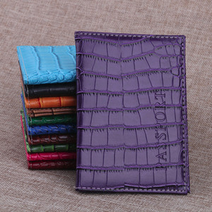 Aelicy Soft Passport Cover Leather Business Card Holder Passport Holder Protector Wallet Delicate Alligator Embossing Bag