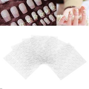 10 Blatt Doppelseitige Klebebänder Nagel Tabs Klar DIY Maniküre Dekoration Gefälschte Nagel Aufkleber Für Gefälschte Nägel Tipps