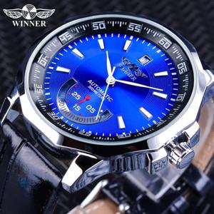 T-WINNER automatique montre mécanique Polygon cas Calendrier Hommes étanche lumineux mains Sport stayle Wristwatch 2019