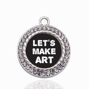 Vamos Fazer Círculo Da Arte Charme Encantos Pingentes Liga Pingente Apto para As Mulheres Pulseira Colar acessórios de jóias Fazendo