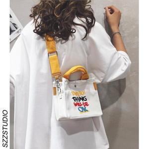 Ulzzang Koreli ins Retro Hong Kong tarzı postacı çantası öğrenci haberci çantası kadın