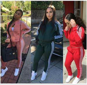 Frauen Sport Trainingsanzug Hoodies + Pants 2 Stück Frau Set Outfit aushöhlen einfarbig Womens Sweat Suits Sweatsuits Kleidung Kleidung