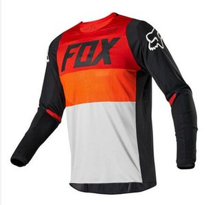 2020 Yeni FOX Off-road Bisiklet Jersey Anti-fall Dağ Bisikleti Hız Aşağı Bisiklet Bisiklet Hızlı kuruyan Uzun Kollu