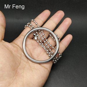 Magic Trick Game Stainless Steel 5*50 mm Ring 100 mm Chain Ring Puzzle Child Toy ( Model Number H489 )