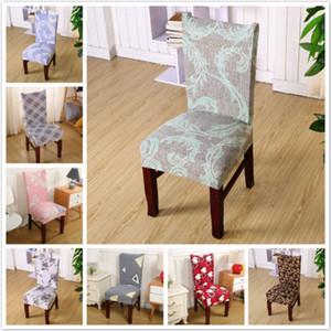 Baskılı Çiçek Sandalye Kapak Ana Salon Sandalye Kapak Düğün Restoran Yemek Stretch Koltuk slipcovers Sandalye Kapak