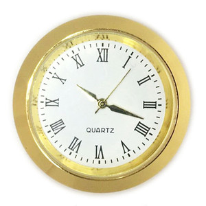 35 mm Mini Inserte reloj reloj de movimiento de cuarzo de oro del metal plateado Fit Clock Insertar romana Mumerals Reloj Accesorios al por mayor de DBC BH3513