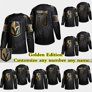 Golden Edition Vegas Golden Knights jersey Marc Andre Fleury Ryan Reaves Ston William Karlsson Customize any number any name hockey jersey