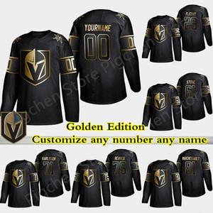 Golden Edition Vegas Golden Knights Jersey Marc Andre Fleury Ryan Reaves Ston William Karlsson Personalizar cualquier número de cualquier maillot nombre de hockey