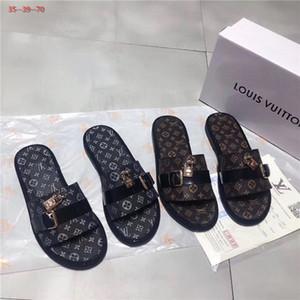 sandali estate di vendita calda scorrere Beach piatta coperta di lusso 2020 del progettista di marca pantofola Casa infradito con i sandali a spillo con le scatole