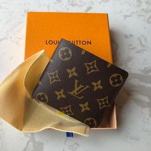 78LVLOUISVUITTONKommen Frauen Echtes Leder-Mappen 2 Stück Composite-Geldbeutel-Handtaschen Männer Schultertasche Tote Clutch Satchel