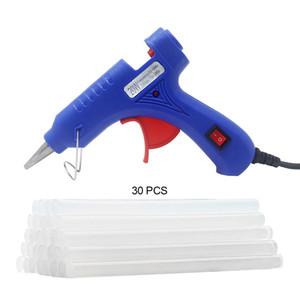 20 W Sıcak Tutkal Tabancası Endüstriyel Mini Guns Termo Elektrikli Isı Sıcaklığı Aracı Sıcak Tutkal Çubukları Ev DIY El Sanatları için Sticks aracı