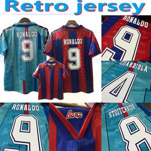 Dışarıda Barcelona ev Retro futbol forması 06 07 08 96 97 RONALDINHO RONALDO GUARDIOLA XAVI Iniesta Yıl Barselona 2006 2007 vfootball gömlek