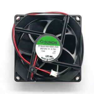 New Original for Sunon PF80251B3-0000-A99 80*80*25MM 12V 2.7W 8cm cooling fan