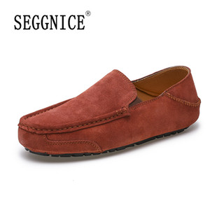 2020 Peas Shoes Men Breathable Flat Pu Leather Moccasins Casual Driving Shoes Comfortable Lazy Male Loafers Footwear Plus Size