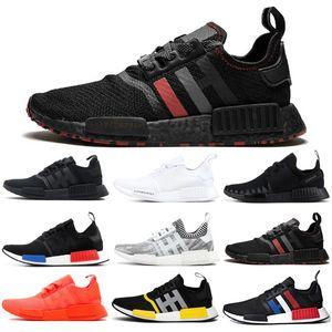 Adidas NMD Boost R1 Laufschuhe für Frauen Männer OG Atmos Japan Solar Red Thunder Tri-Color Triple Weiß Schwarz Herren Trainer Sport Sneaker 36-45